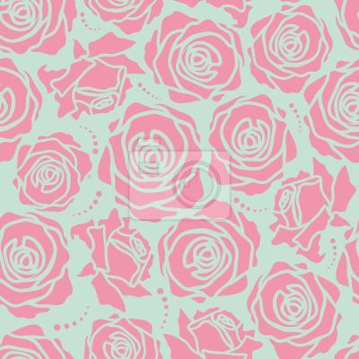 Tapeta Róża Kwiaty Stylizowane