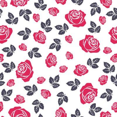 Tapeta Różany wzór. Bezszwowy wzór z kwiatami róże. Kwiatowy bezszwowe tło.