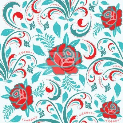 Tapeta Róże I Liście