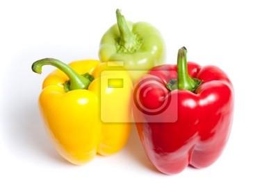Różne kolorowe papryki