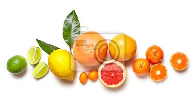 Tapeta Różne owoce cytrusowe