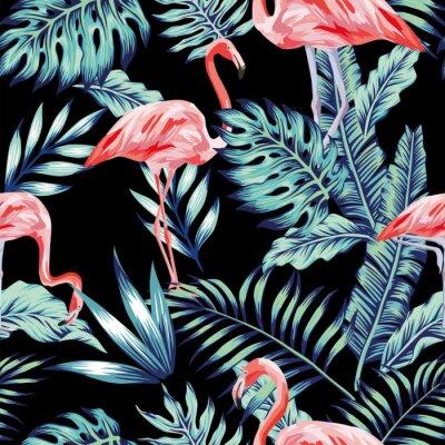 Tapeta różowa dżungla błotna