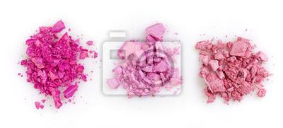Różowe pokruszone cienie do powiek