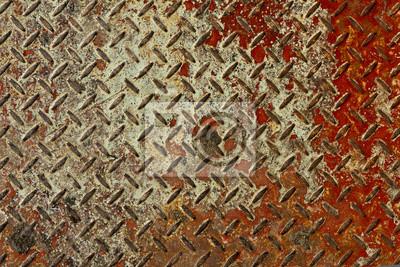 Tapeta Rusty czerwony i biały tekstury blach