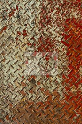 Rusty czerwony i biały tekstury blach pionowych