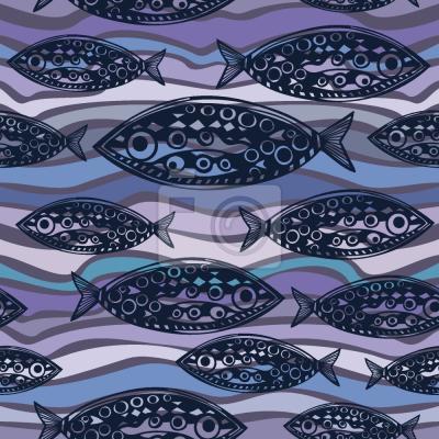 Tapeta Ryby Na Pacyfiku Fale