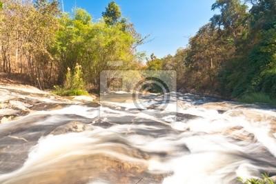 """Rzeka z """" Ya Mae """" wodospad w Chiang Mai"""