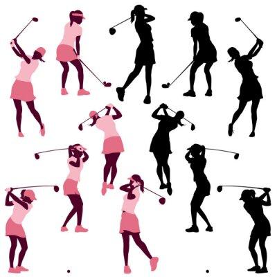 Tapeta Samica golfa pozy sylwetki
