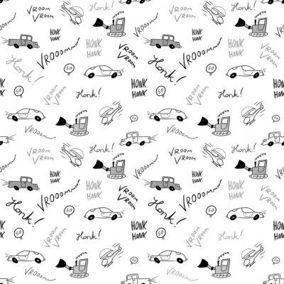 Tapeta Samochodów bez szwu doodle