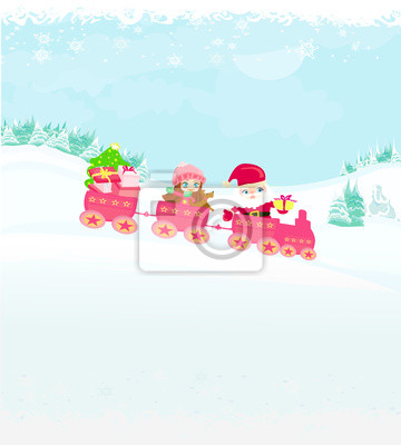 Santa Boże Narodzenie Pociąg