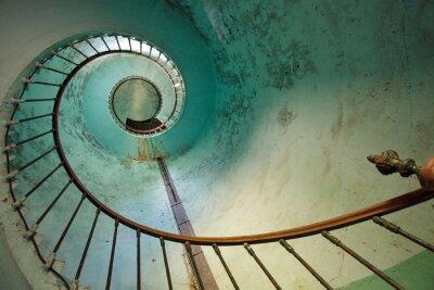 Tapeta schody latarnia