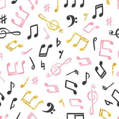 Tapeta Seamless music notes pattern. Musical background.
