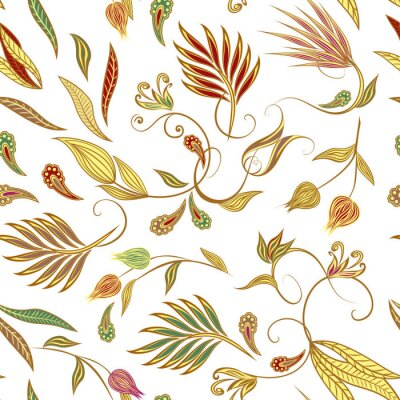 Tapeta Seamless pattern in ethnic traditional style.