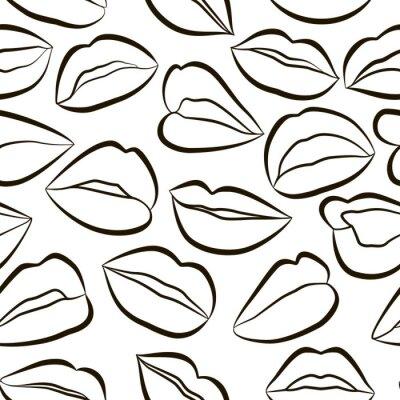 Tapeta Seamless pattern with Lips . Vector illustration. EPS 10