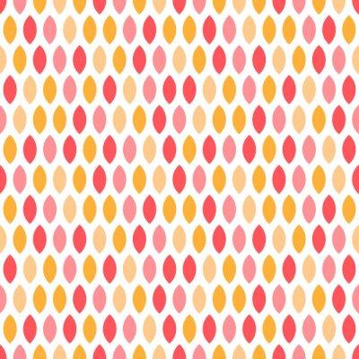 Tapeta Seamless pattern with pink and orange geometric shapes