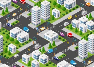 Tapeta Seamless urban plan