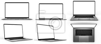 Tapeta Set of blank laptop isolated