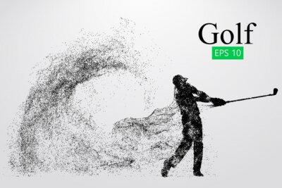 Tapeta Silhouette golfista. Ilustracji wektorowych