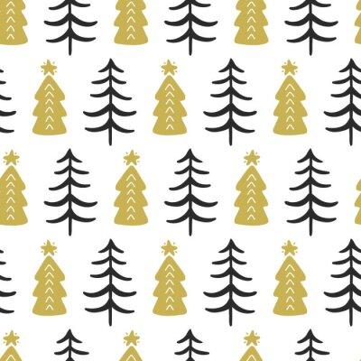 Tapeta Skandynawski drzew leśnych nordic wzór
