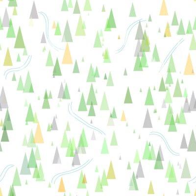 Tapeta Ski Szwu z Lasu. Góry zimą na nartach tle ilustracji wektorowych ośrodek.
