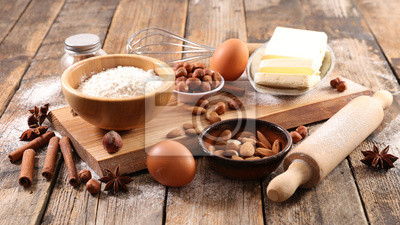 Tapeta składnik do pieczenia ciastek