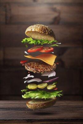 Tapeta Składniki preparatu Burger