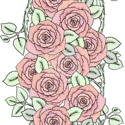 Tapeta Śliczny Wieniec Róż
