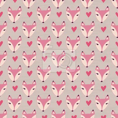 Tapeta Słodkie Lady Foxes