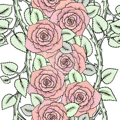 Tapeta Słodkie Róże na Oddziały