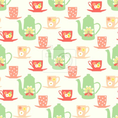Tapeta Słodkie sześćdziesiątych Tea Time