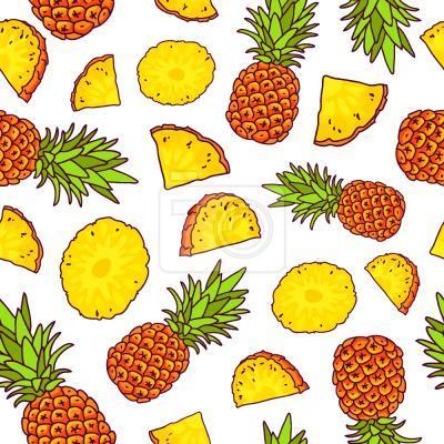 Tapeta słoneczny Ananas
