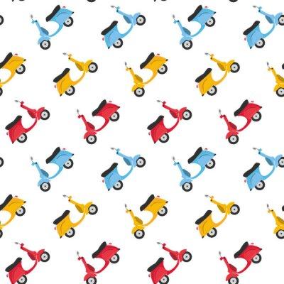Tapeta Śmieszne skutery bezszwowe tło wzór
