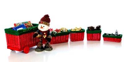 Snowman przez pociąg Boże Narodzenie