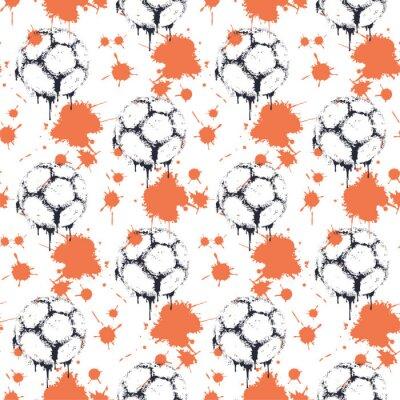 Tapeta Soccer ball. Vector illustration of seamless pattern.