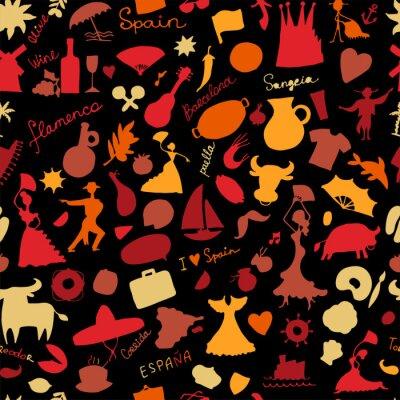 Tapeta Spain, seamless pattern for your design