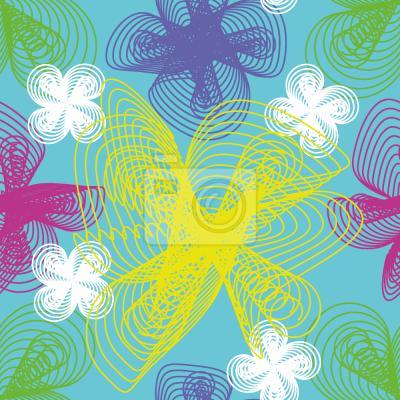 Tapeta spiralne Kwiaty