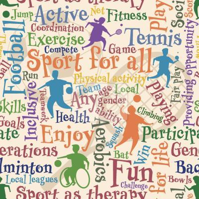 Tapeta Sport dla wszystkich