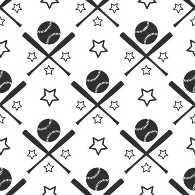 Tapeta Sport szwu. Monochromic baseball tle ilustracji wektorowych