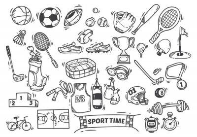 Tapeta Sport tematycznie doodle