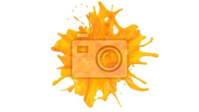 Tapeta spray of orange liquid
