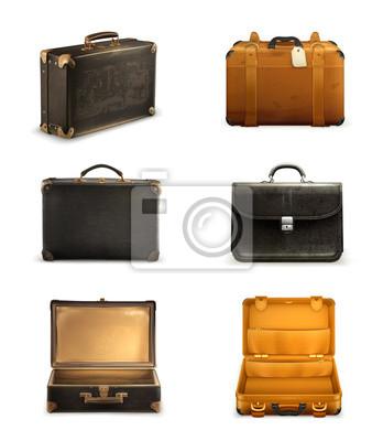 6fb2d4e22362b Tapeta Stary zestaw walizka • czarny, w wieku, antyczny • REDRO.pl