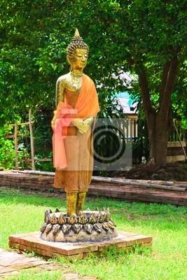Stojący Budda na Lotus obrazu