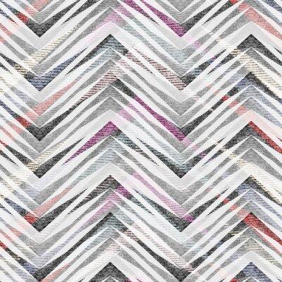 Tapeta Streszczenie bezszwowe kolorowy wzór geometryczny zygzak.