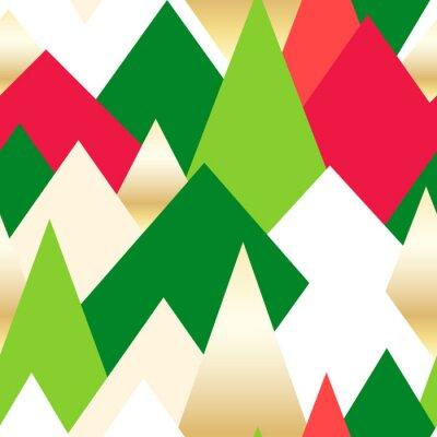 Tapeta Streszczenie bezszwowe tło z kolorowych trójkątów. Nowy Rok wzór. ilustracji wektorowych.