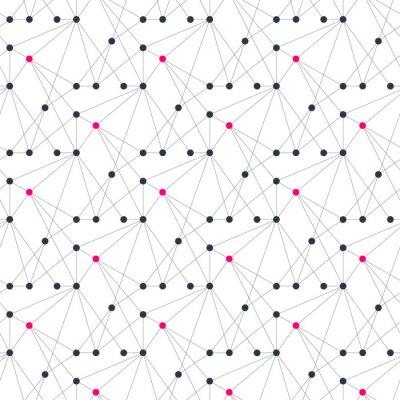 Tapeta Streszczenie geometryczny wzór z lekkich linii i kropek