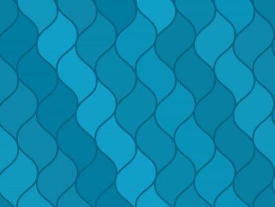 Tapeta Streszczenie niebieskie faliste morze bez szwu deseń, ładne morskich tekstury dla marynarki włókienniczej, zawijania papieru, tapety, tło, okładka