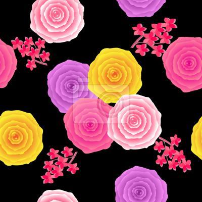 Tapeta Streszczenie Roses w stylu Vintage