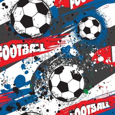 Tapeta Streszczenie wzór dla chłopca. Grunge sport tekstury. tło z mistrzostwami Francji w piłce nożnej, graczy i kolory flagi Francji. pień wektor