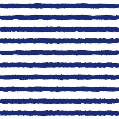 Tapeta Striped Sailor kostium Seamless Pattern.