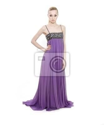 92e2c682cf Tapeta studio strzał z młoda kobieta piękne w długich sukienka ...